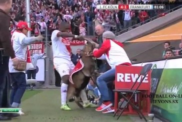 Ujah apologizes for dragging club's mascot by its horn