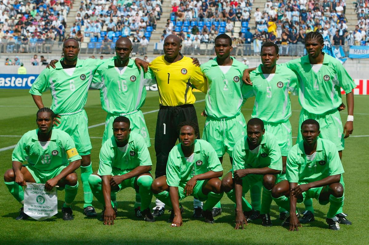 official photos f797d 7fd8a Nike-produced Nigeria world cup-soccer jerseys 2002
