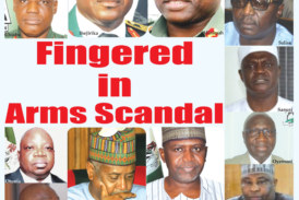 Fingered in Arms Scandal