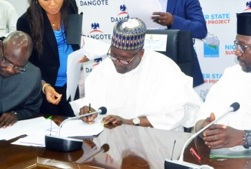 Dangote signs $450million jumbo sugar production Memorandum of Understanding (MoU) with Niger State
