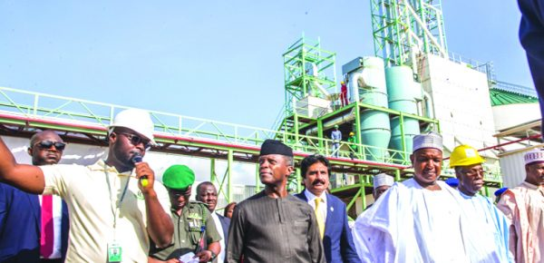 Commissioning Africa's largest rice mill